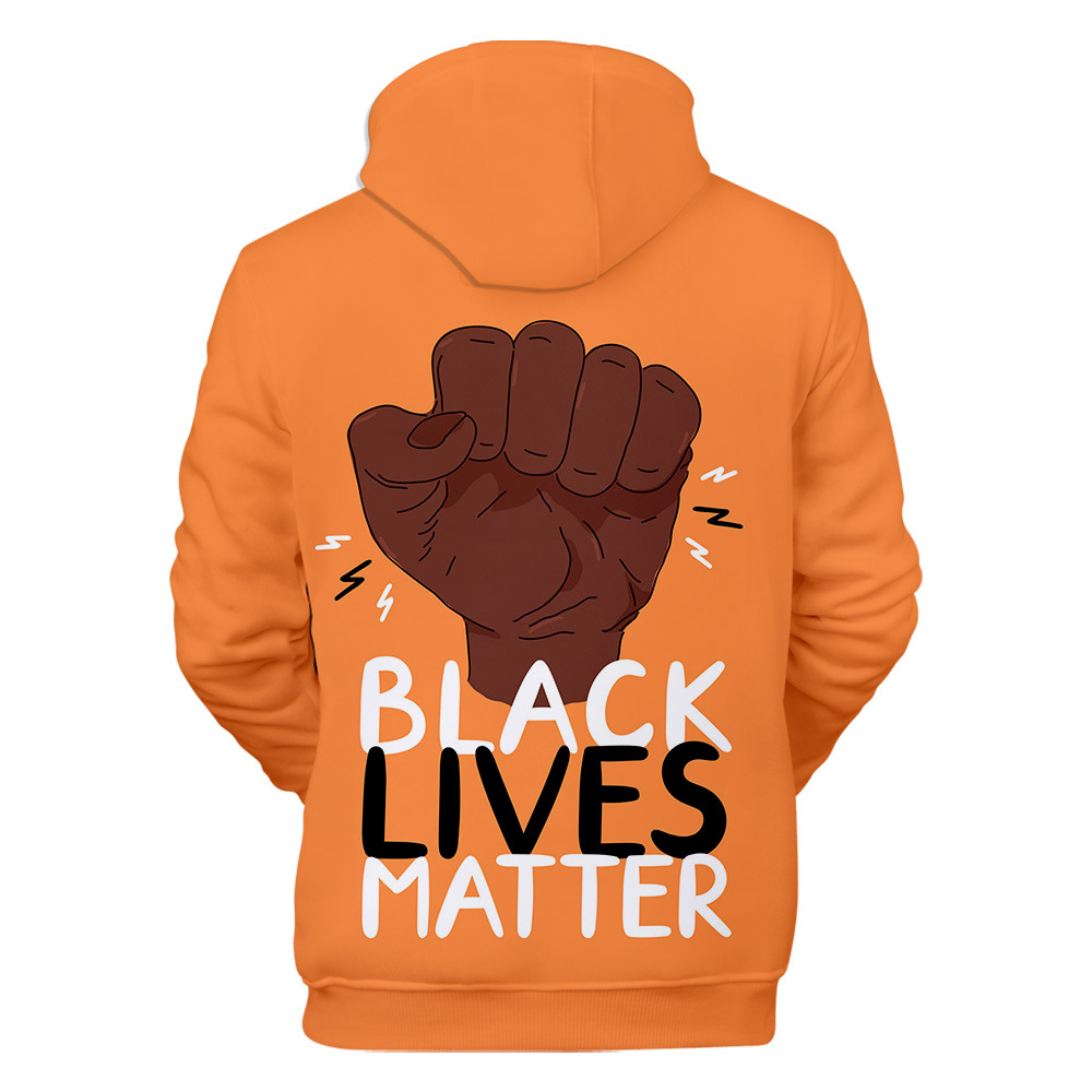 Adult Hoodie Black Lives Matter BLM Human Rights Unisex Pullover Sweatshirt