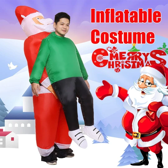 🎅40% off Christmas sale🧦Santa Claus Carrying Human Costume