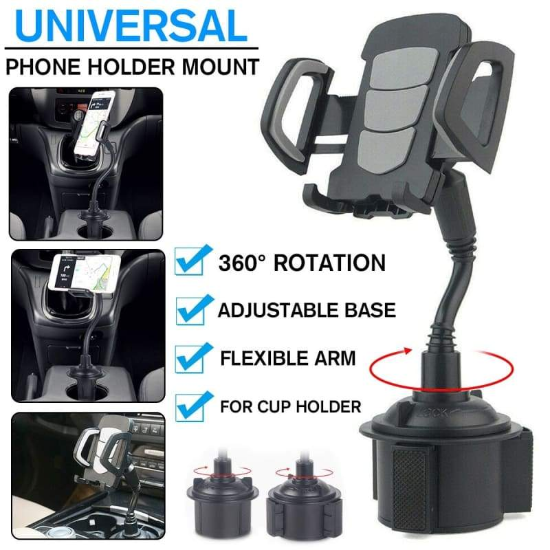 Adjustable Car Weather Cup Tech Fone Universal Phone Holder Mount for Mobiles