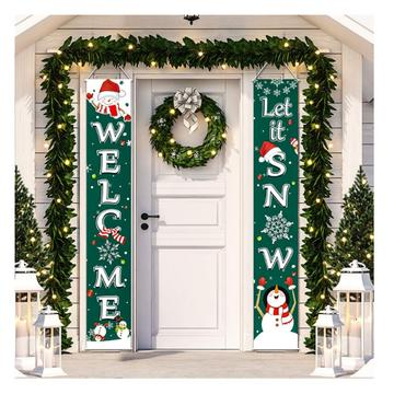 Christmas Sale!-Buy 2 Free Shipping Porch Banner Decoration | Christmas Let's Snow