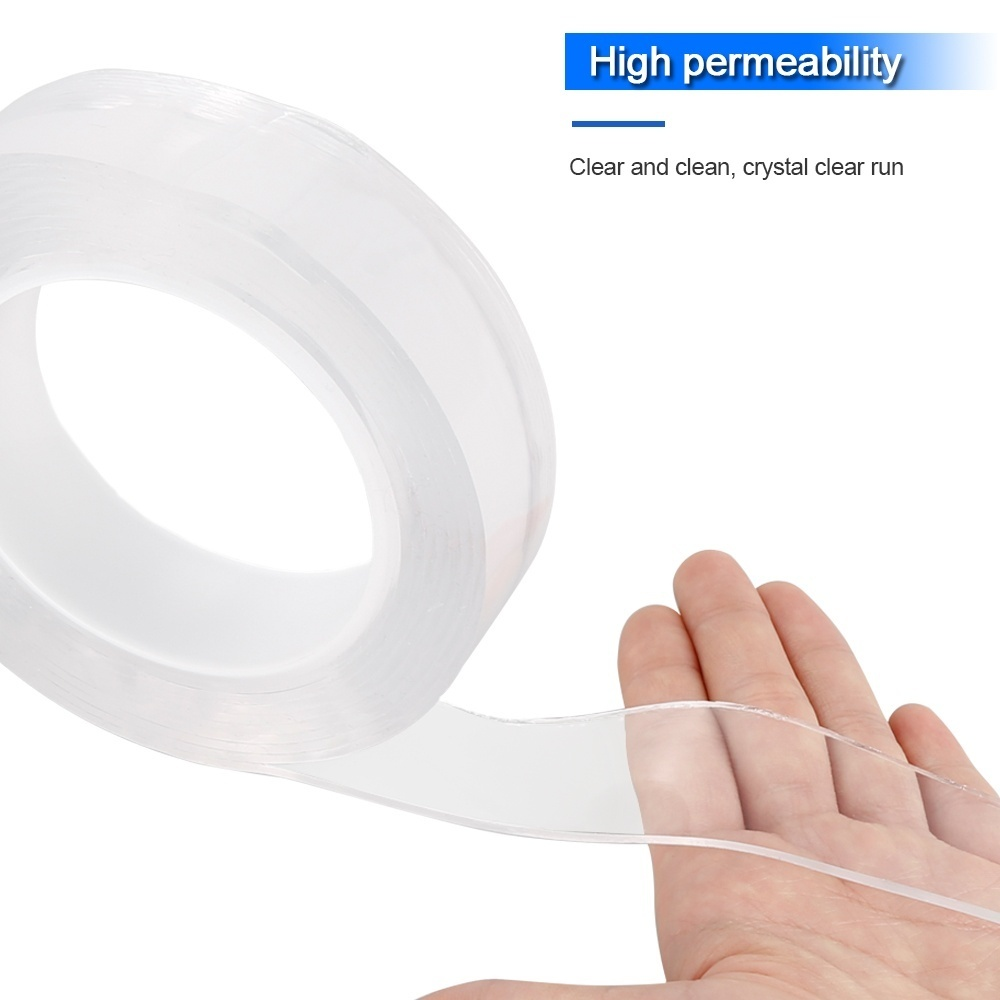 1M/2M/ 3M/5M Multifunctional Double-Sided Traceless Washable Adhesive Tape Reusable Of Scotch Tape Nano PU Gel Double-Sided