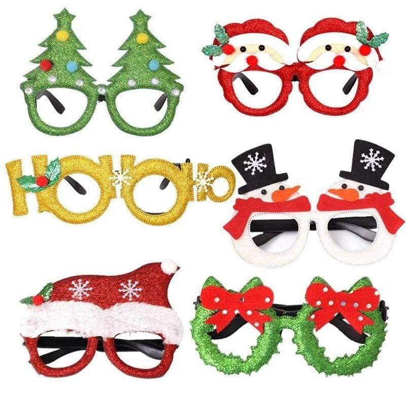 2020  Christmas Glasses Christmas Decorations Adult Children Toys Frame Xmas Ornaments Decor Kids Adult Holiday Party Favors Toys