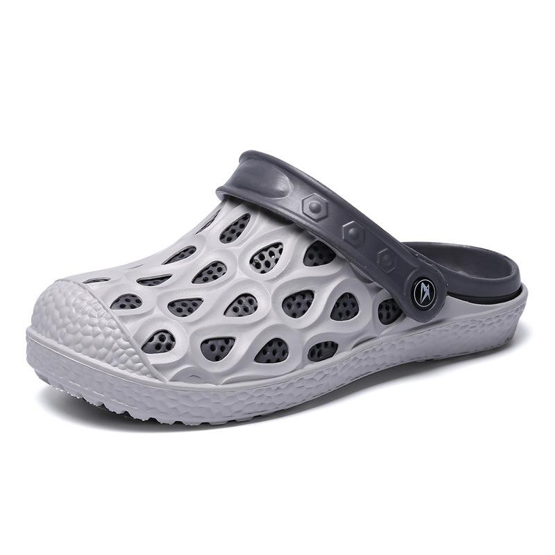 Summer Casual Hole Breathable Mens Sliders