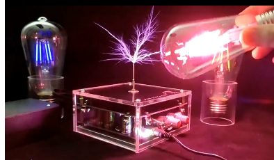 Music Tesla Coil SSTC Artificial Lightning Science and Education Tool DIY Experiment