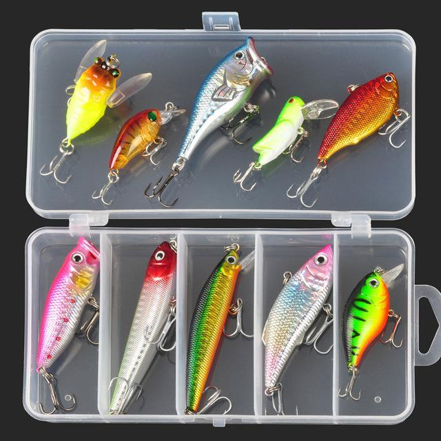 Allblue Fishing Minnow/Popper/ Spoon Metal Soft Kit /Style/Weight
