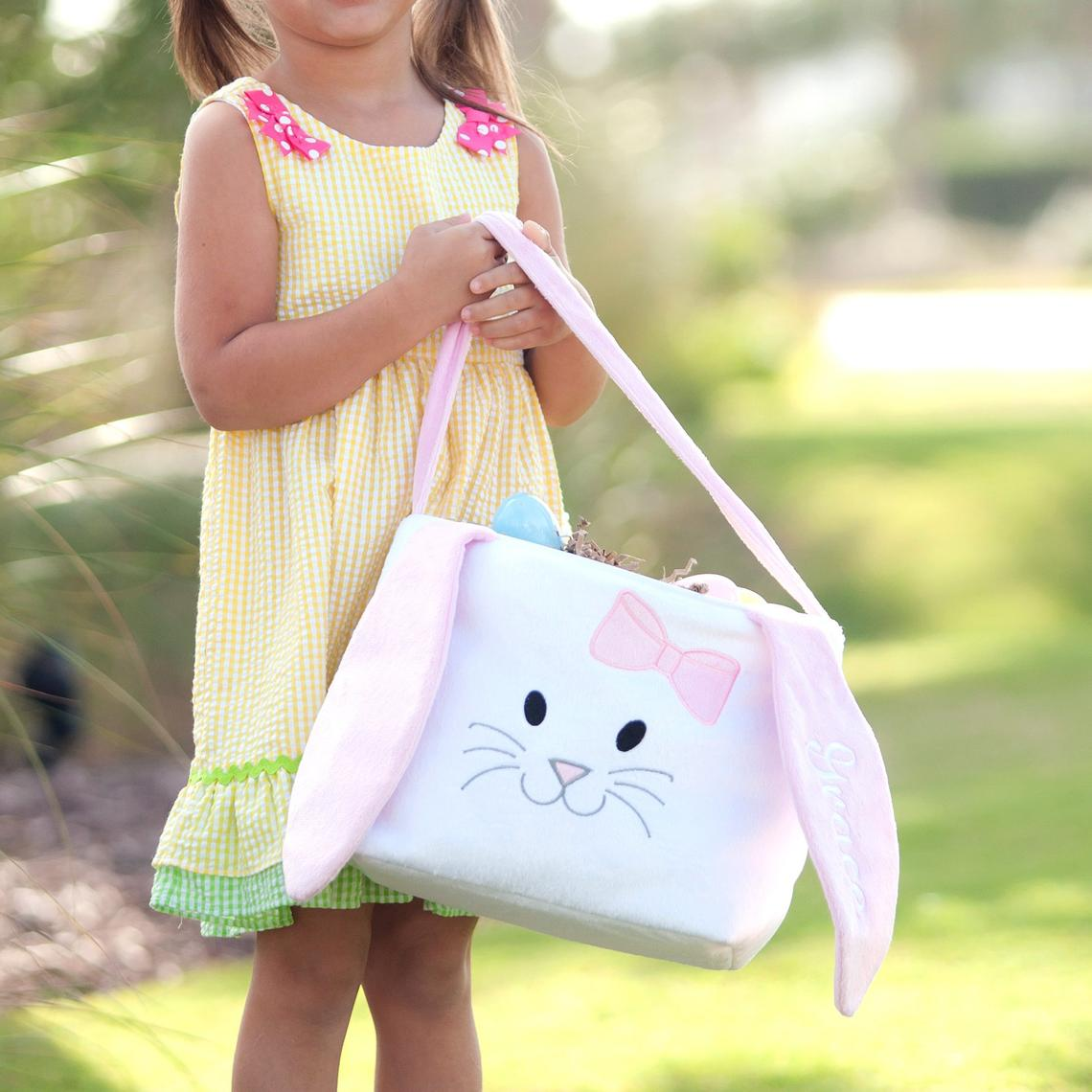 🔥 Easter Pre-Sale🔥50% OFF 🔥 Personalized Girls Easter Basket, Custom Bunny Basket, Kids Easter Basket, Easter Bucket, Monogram Easter Basket, Girls Basket