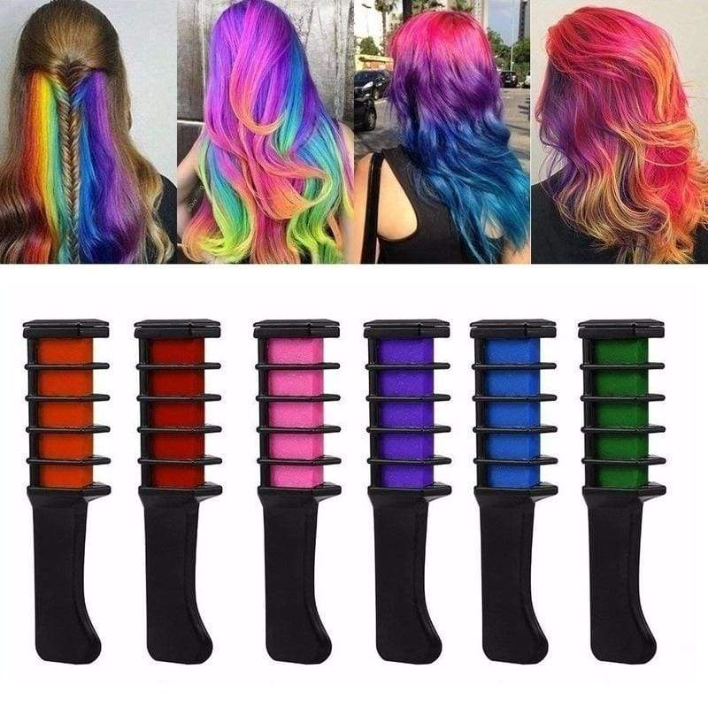 10 Colors New Temporary Hair Pro Mini Chalks Crayons For Hair Multicolor Color Dye Hair Dye Comb Hair Care Styling Tools