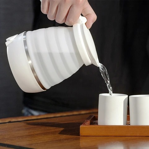 Multi functional Folding Electric Kettle for travel&oudoor