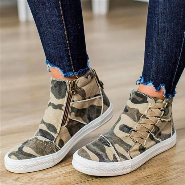 Mokoshoes Casual Daily High Top Stylish Flat Sneakers