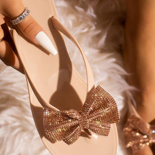 Mokoshoes Summer Daily Bow Simple Slippers