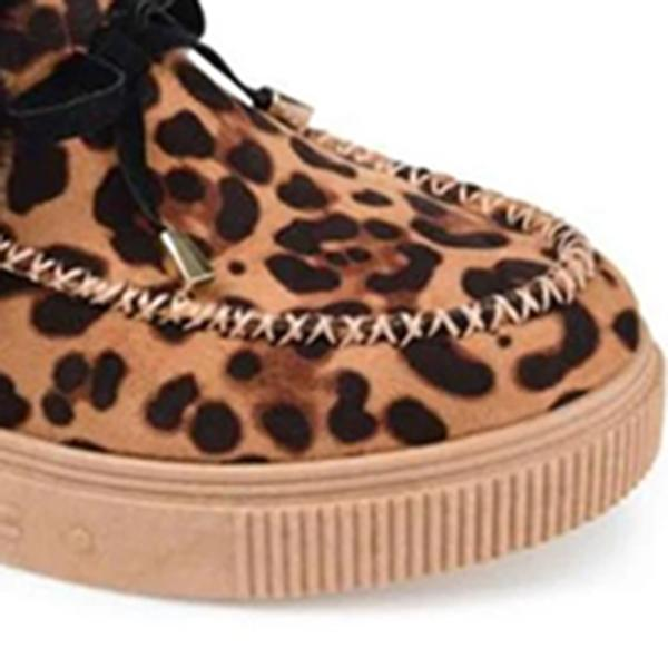 Mokoshoes Casual Fashion Leopard Moccasins