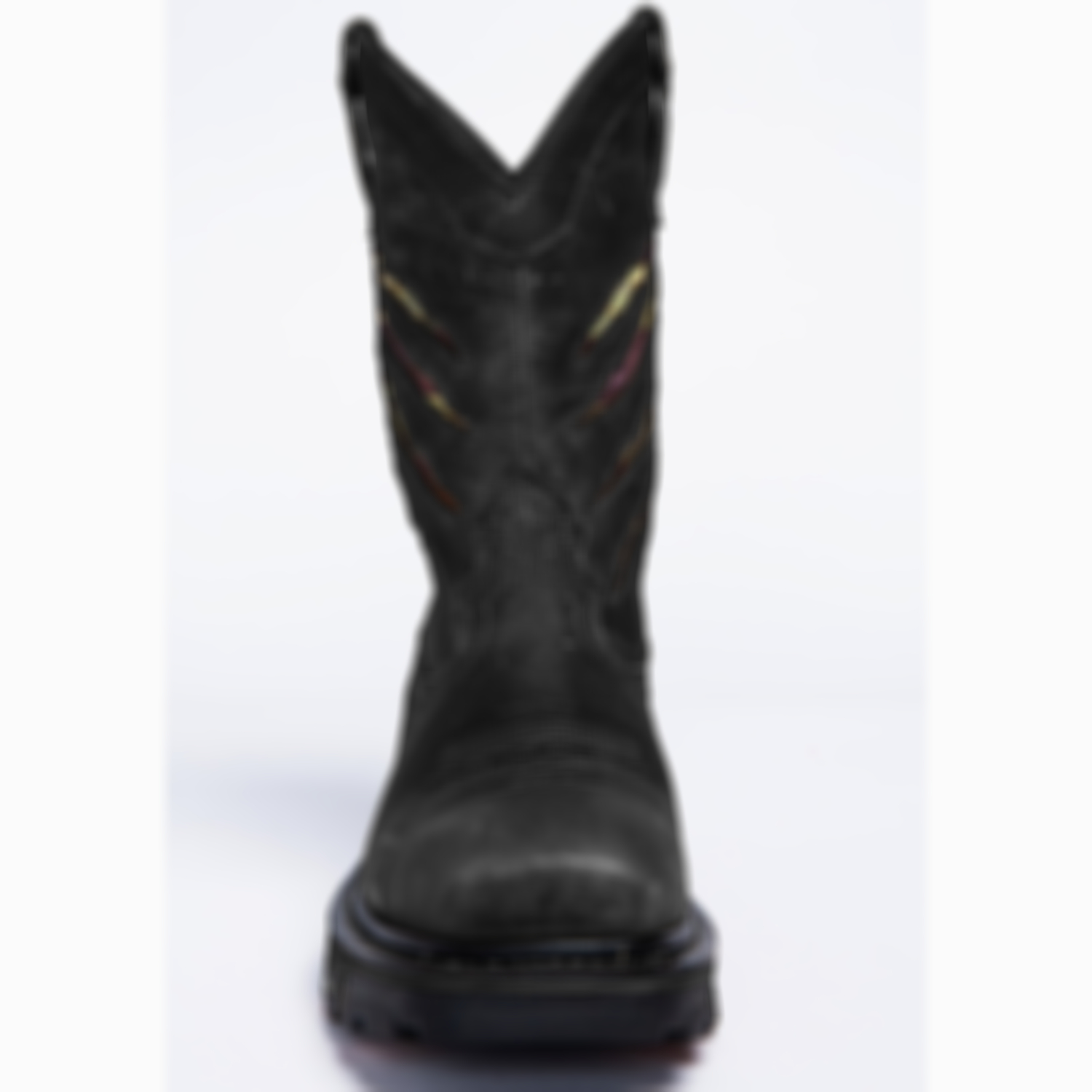Men's Black Ripped Flag Western Work Boots - Composite Toe