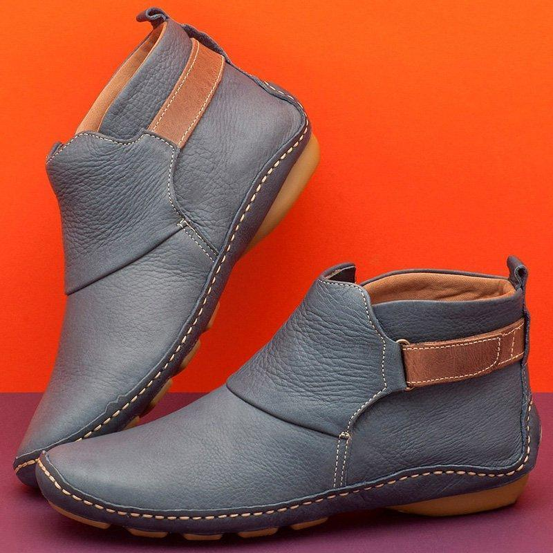 ONLY $32.98 Last Day!⭐Women Casual Comfy Daily Adjustable Soft Leather Booties