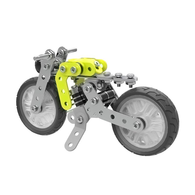 ZHIBO SW-001 DIY 120 Pcs Stainless Steel Motorcycle Assembled Building Blocks Toys