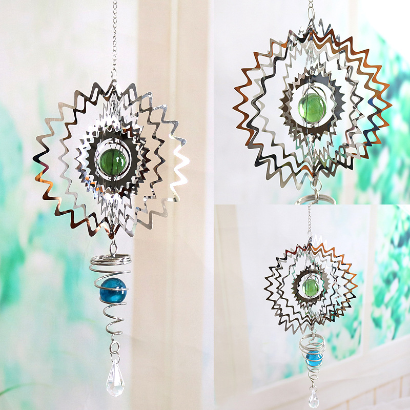 3d three-dimensional rotating wind chime