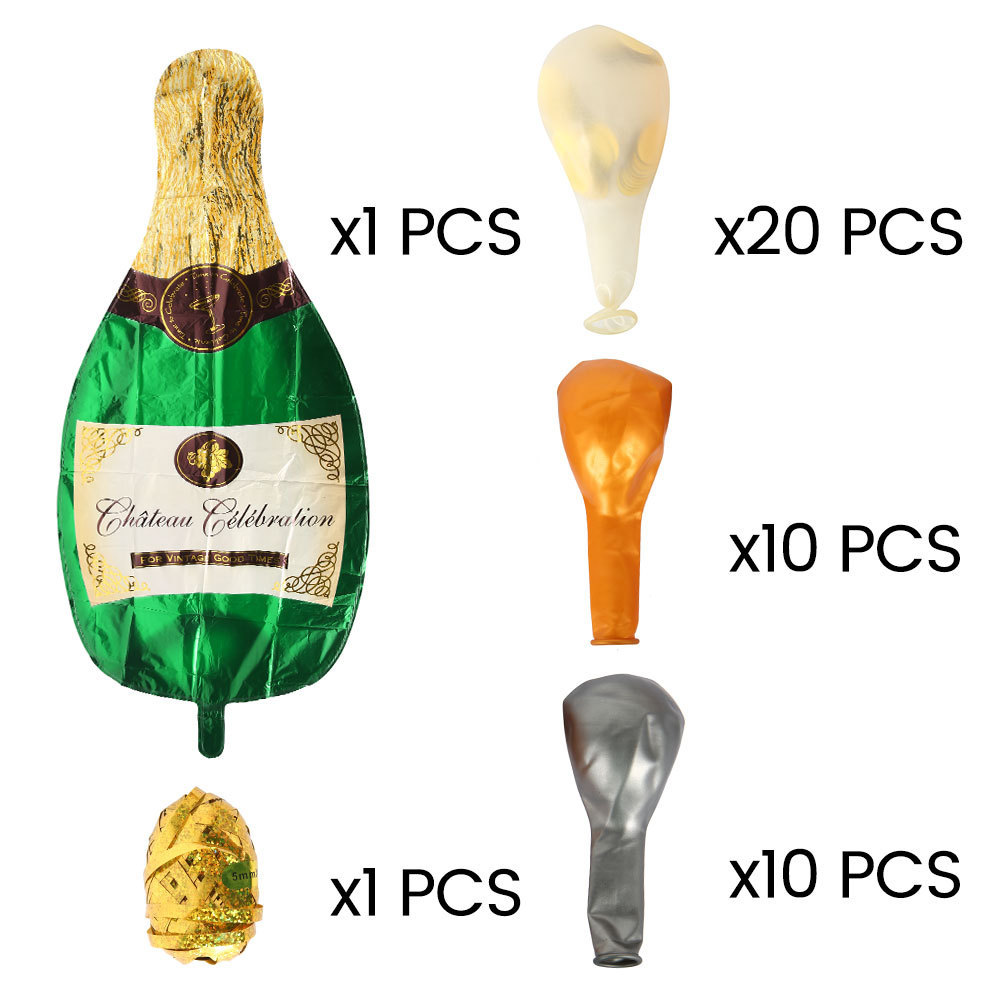 Champagne bottle aluminum foil balloon set Wedding party cocktail party decoration balloons