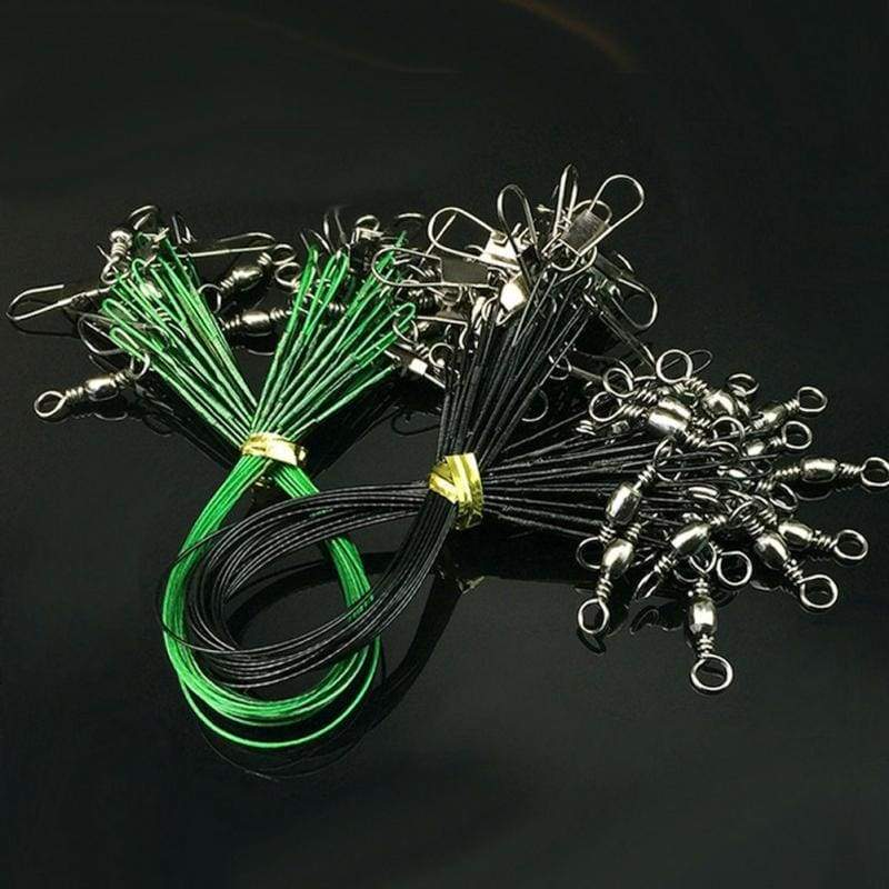 24PCS Steel Leader Leashes for Fishing Wire Braided Leash Material Nylon Fishing Line
