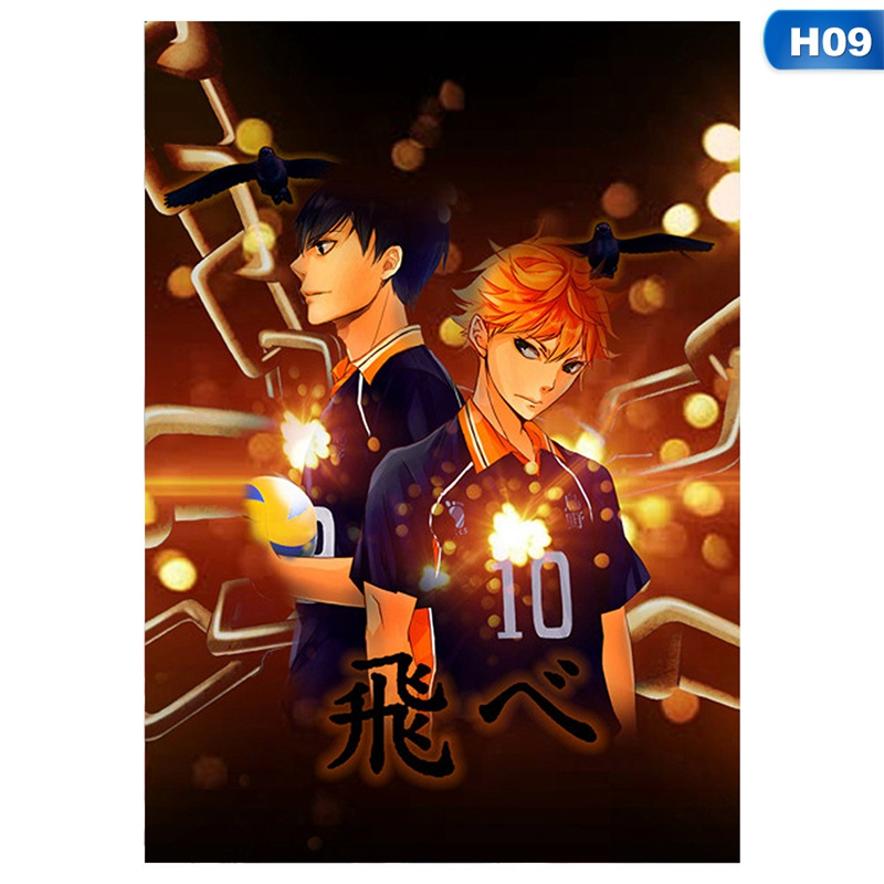 Cartoon Anime Haikyuu Poster Japan Style Volleyball Boy Cosplay Wall Poster For Living Room Bedroom Painting Anime Posters Decor