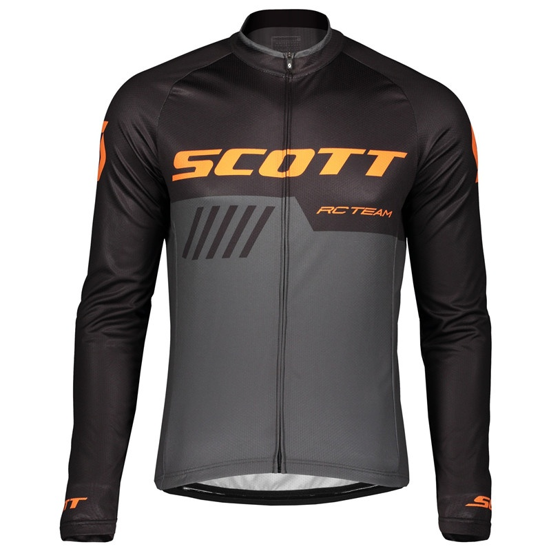 2019 Scott Men Cycling Jersey Shirts Maillot Ciclismo Long Sleeve Spring and autumn Quick Dry MTB Bike Tops Clothing