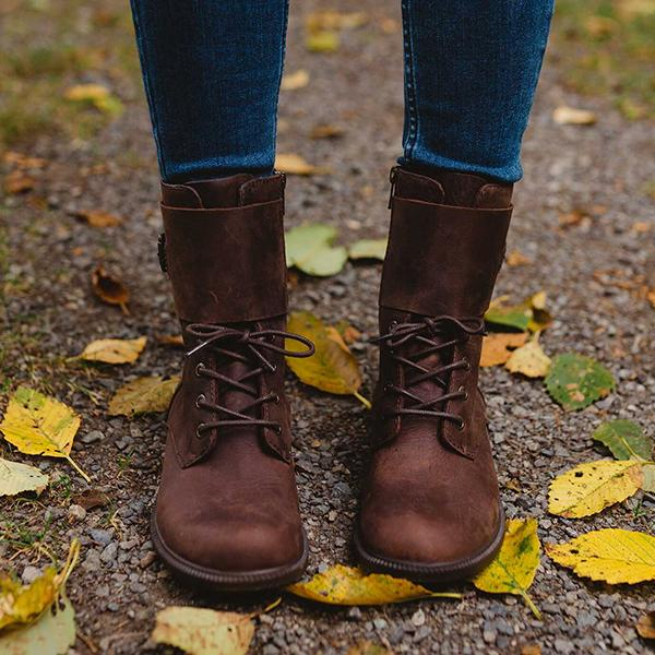 Bonnieshoes Closed Toe Waterproof Cuff Boots