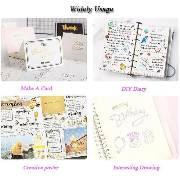 【Early Christmas Promotion】Double Line Outline Pen,For Gift Card Writing & Drawing