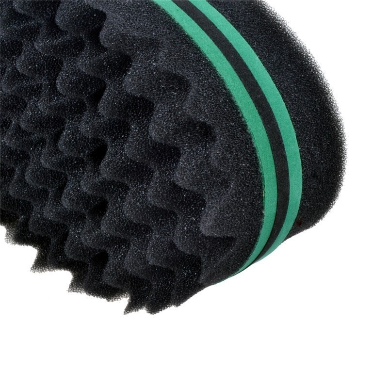 1PC Roud Shape Double Sides Magic Twist Hair Brush Sponge for Natural Hair, Hair Curl Afro Coil Wave Dreads Sponge Brush
