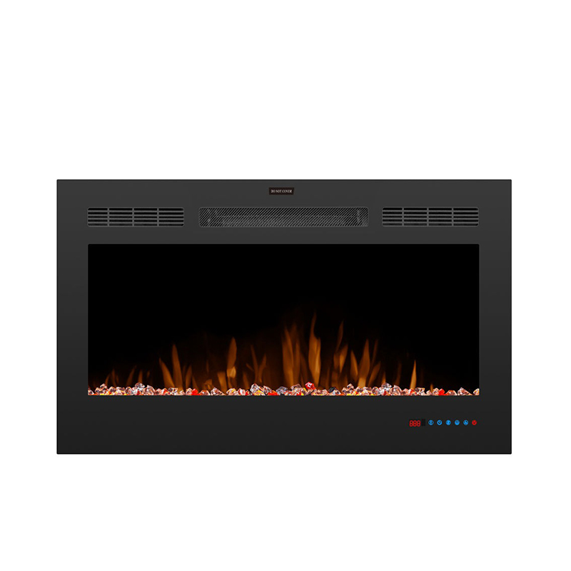Buyonhome Touch Screen LED Recessed Electric Fireplace with Remote Control
