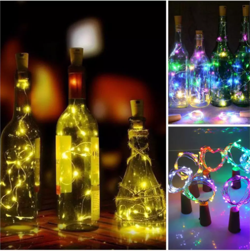 💥Garland Silver String Lights💥Fairy Cork Lamp(Buy One Get Two Free)