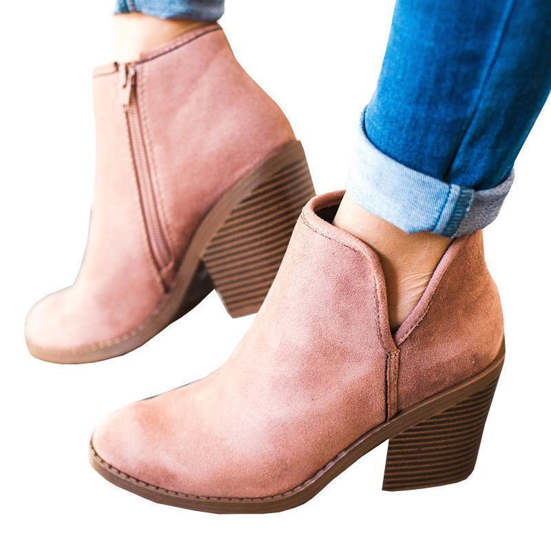 Mokoshoes Suede Chunky Boots