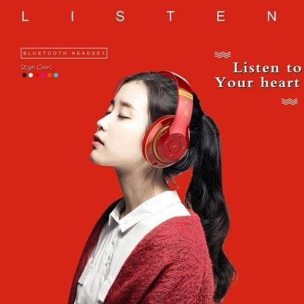 S6 /P47Bluetooth Headphones Wireless Bluetooth 4.0 Heavy Bass Stereo Folding Auriculares with Mic Support TF SD Card The Best Christmas Gift