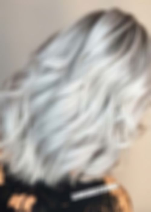 Lace Frontal Wigs For Women Gray Wigs Wavy Hair Bundles Shoulder Length Gray Hair