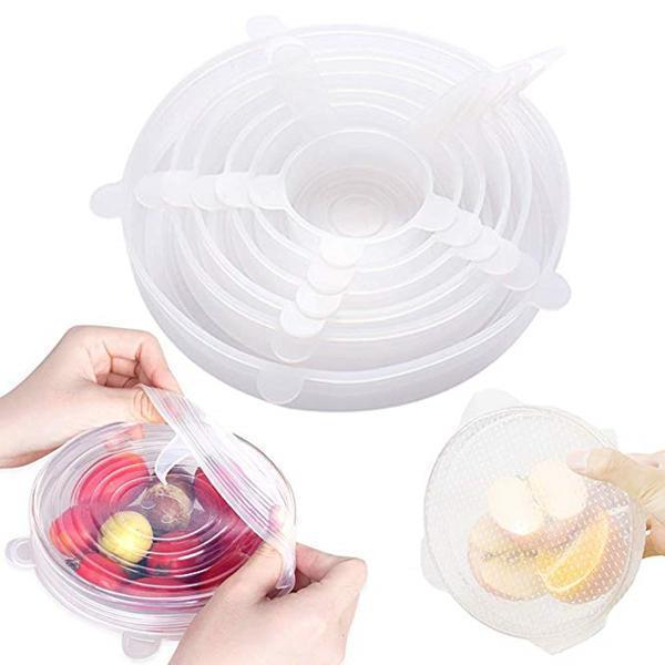 Adjustable Silicone Stretch Lids And Seal Food And Bowl Covers