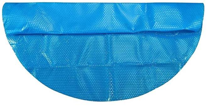 Solar Cover for 8/10/12/15ft Diameter Easy Set and Frame Pools Round Pool Cover Protector Foot Above Ground Blue Protection Swimming (10ft)