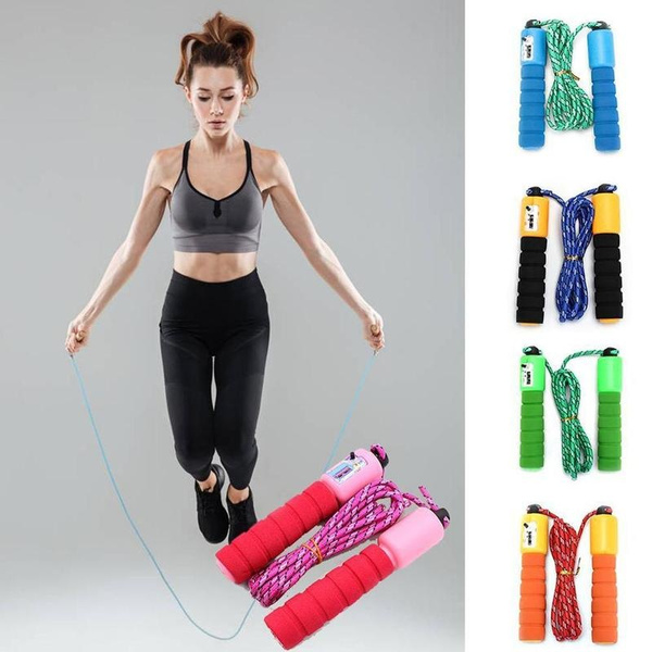 Jump Ropes with Counter Sports Fitness Adjustable Fast Speed Counting Jump Skip Rope Skipping Wire Unisex Kids