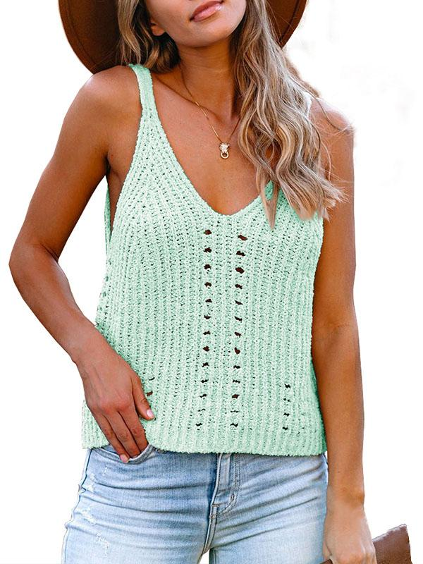 Bonnieshoes Knitted V-Neck Strap Sweater Vest