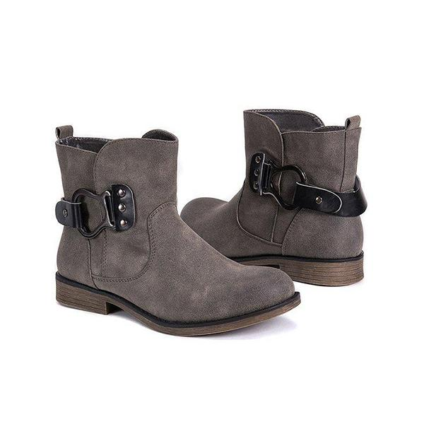 Bonnieshoes Women Comfy Buckle Outdoor Boots