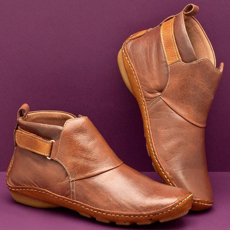 ⭐$29.99 Last 2DAYS⭐ Women Casual Comfy Daily Adjustable Soft Leather Booties