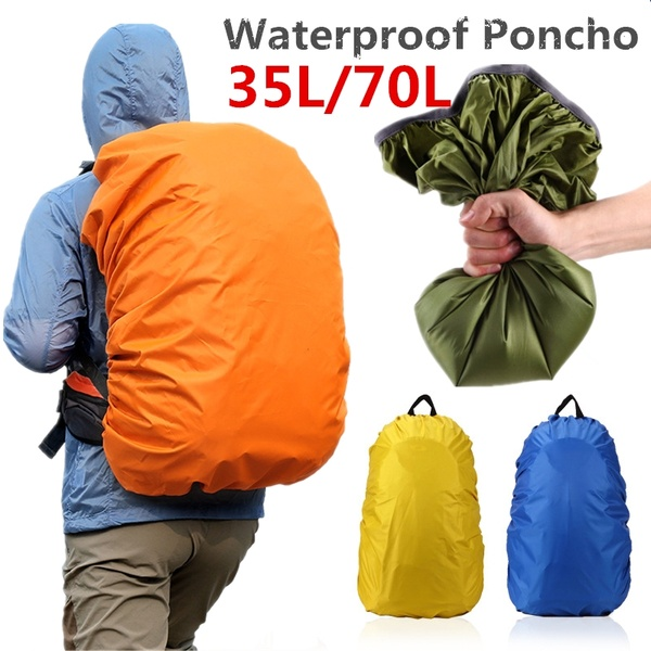 1 PCS 35L / 70L Portable Outdoor Backpack Waterproof Dust Cover Travel Backpack Rain Cover Camping Sports Accessories