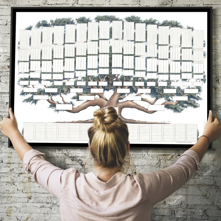 (🔥 Hot Sale)2021 Family Tree Chart - 9 Generations Diy Gift Frameless