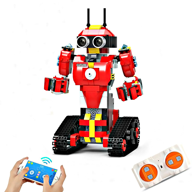 420 pcs Building Blocks Programming Robot, 2.4G, App Dual Mode Remote Control Assembled Toys