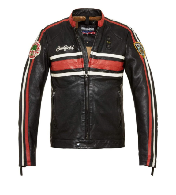 Motorcycle leather jacket for men and women