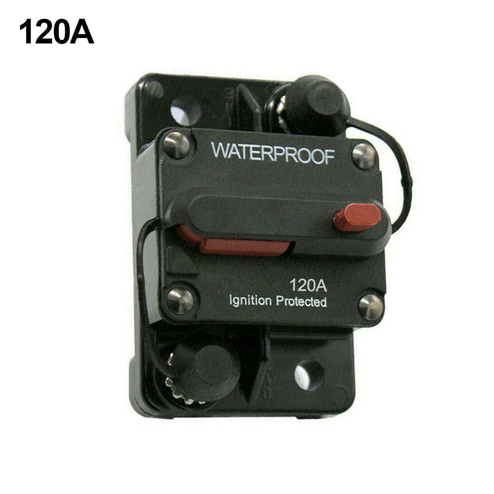 Waterproof Circuit Breakers Reset Fuse 12V-24V DC for Auto Car Audio Marine