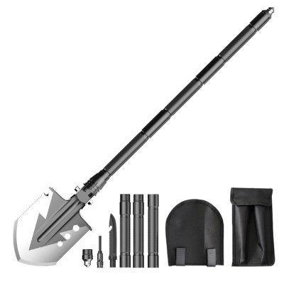 23-in-1 Ultimate Survival Multi-tool --30 Inch Tactical Portable Military Shovel and Pickaxe