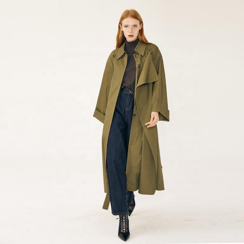 2019 spring women double breasted long custom made trench coats-Casual Windbreaker 2.11