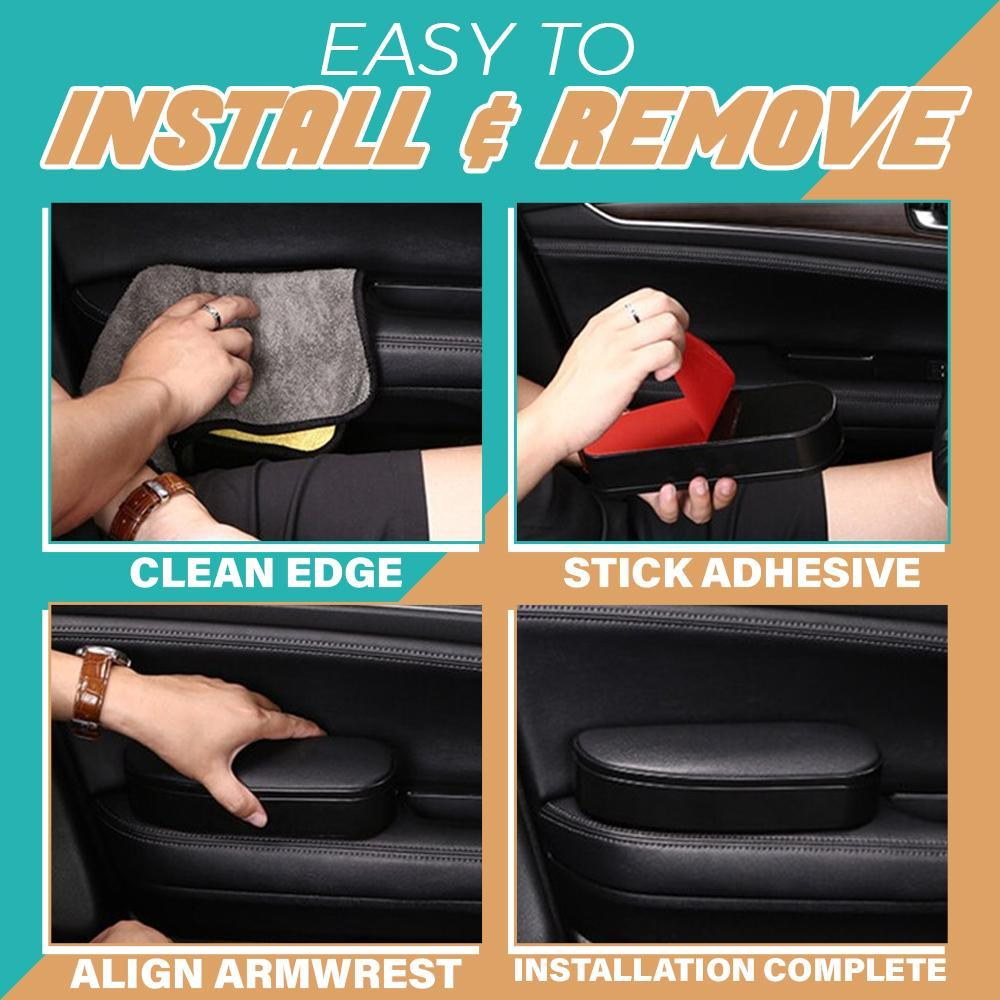 SELF-ADHESIVE CAR DOOR ARMREST WITH STORAGE BOX