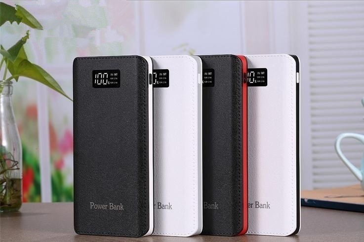 NEW !!! LCD Display Power Bank 900000mAh Portable Charger External Battery Pack 4 OutPut Ports 2 InPut Huge Capacity Backup Battery Compatible Almost All Android Phone Iphone  and Other Smart Phone