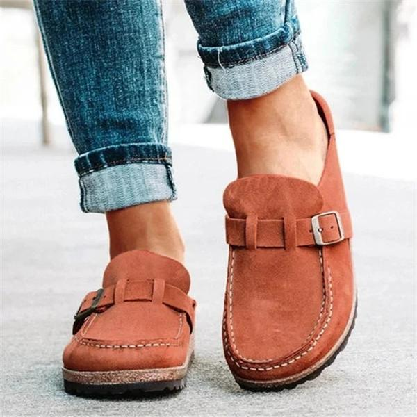 Mokoshoes Women Casual Comfy Leather Slip On Sandals