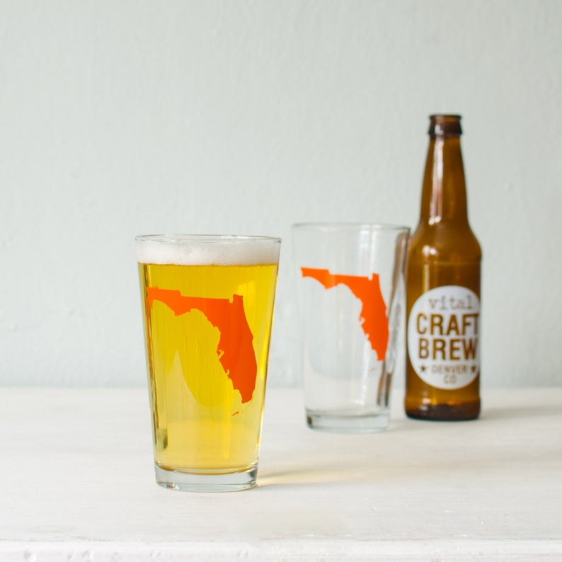 All 50 USA STATES - screen printed pint drinking glasses