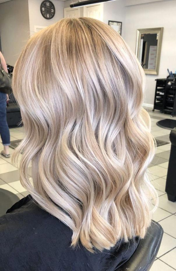 Lace Front Wigs Platinum Blonde Wig 1950S Blonde Wig Icy Balayage