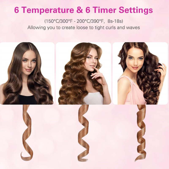 45% Off Last Day Promotion-- Auto Rotating Ceramic Hair Curler